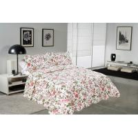 Quality Chrysanthemum Pattern Colourful Quilt Covers , Home King Queen Size Bed Quilt Covers for sale
