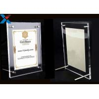 China Clear Acrylic Photo Frame A4 A3 Certificate / Business License Frame wholesale