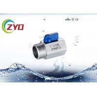 China Threaded Stainless Steel Shut Off Valve For Pneuma / Water High Pressure wholesale