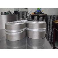 China Silvery Flexible Aluminum Wire Mesh Belt For Plastic Extruder Industry wholesale