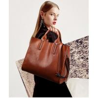 China Vintage Oil Waxing Leather Fashion Ladies HandBags One Shoulder Simple Style wholesale
