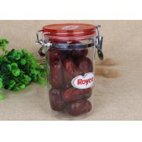 China BPA Free Airtight Canister Clear Plastic Cylinder Bottle For Food / Sauce Storage on sale