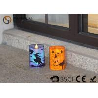 China Lovely Halloween Flameless Candles , Led Halloween Candles 100 / 180 / 375g wholesale