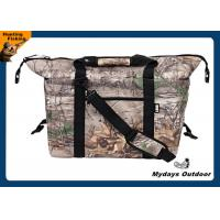 China Camouflage Picnic Collapsible Cooler Bag Foam Filled 3 Pounds 10 X 12 X 18 Inches wholesale
