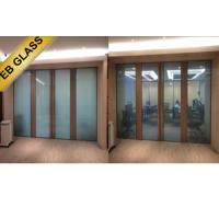 China Smart  glass partition ,electrical frosted glass,laminated intelligent glass EB GLASS wholesale