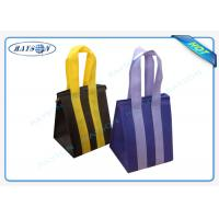 China Custom Eco Promotional Long Handle PP Non Woven Garment Bag With Zipper wholesale