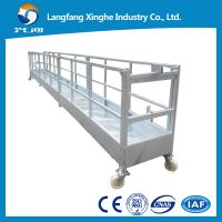 China hot galvanized  Motion Suspended Gondola Platforms, suspended cradle  gondola Swing Stage wholesale