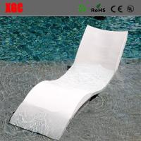 Buy cheap 2017 Hot Selling PE Wavy Shape In-water Chaise Poolside Leisure Sun Lounge Chairs from wholesalers