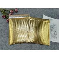 China Protective Gold Colored Bubble Wrap Mailing Bags / Poly Bubble Mailers wholesale