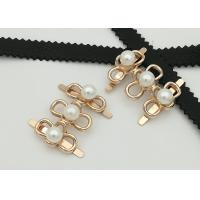 China Big Pearl Zinc Alloy Buckle 35*2MM 5.3g Easy To Assemble Environmental Plated wholesale