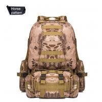 55L Multifunction Sport Bag Tactical Bag Water Resistant Camouflage Backpack for