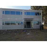 China Wind Resistance Flat Pack Containers / Storage Container Homes With Sandwich Panel on sale