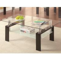China Rectangular Clear Glass High Bar Table Extending Stainless Legs For Dining wholesale