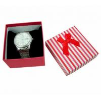 China Plain Watch Gift Jewelry Paper Boxes , White Gift Boxes With Lids wholesale