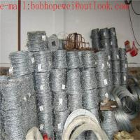 China hot-dip galvanized steel coiled barbed wire/2018 hot sale galvanized or PVC coated barbed wire/barbed wire price per ton on sale