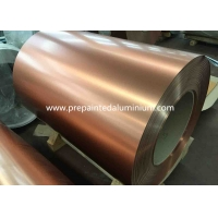 China Brushed Champagne 3.0mm Color Coated Aluminum For Interior Furniture wholesale