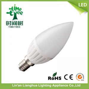 China Office Ceramic LED Candle Light Bulbs Warm White 6500k , LED Candelabra Bulbs wholesale
