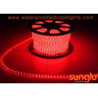 China Energy Saving Red LED Tape , AC220V SMD 3528 60D Outdoor LED Rope Light on sale