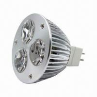 China Quality MR16 3 x 1W High-brightness LED Spotlight Bulb with 90 to 260V AC Voltage, Maximum Power wholesale