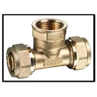 China Brass compression fittings for pex pipes on sale