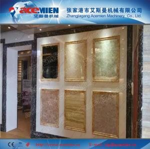 China 1220mm PVC stone powder decoration sheet extrusion line wholesale