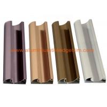 China C Shaped Aluminium Cabinet Door Profiles Lightweight For Crystal Steel Shutter wholesale
