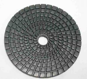 China best quality 4inch/100mm Hexagon dry diamond polishing pad for granite wholesale