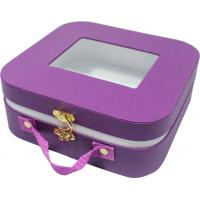 China Small cute paper gift case , safety creative gift boxes rounded corner metal lock wholesale