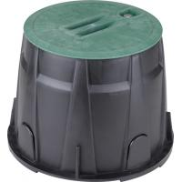 China Lawn Water Valve Box 10 Inch  Round Sprinkler Control Box UV Stabilised Materials wholesale