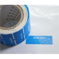 Clear Bronzing Self Adhesive Security Labels Professional Design For Cosmetic
