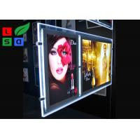 China Double Graphic LED Light Box Panels , DC 12V Advertising Light Box For Window Display on sale