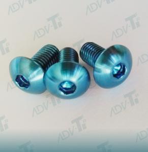 China Corrosion Resistant Titanium Fastener , Decorative Shining Blue Titanium Screws wholesale