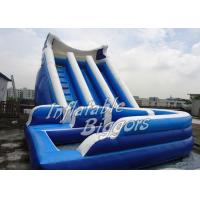 China Kids Outdoor Backyard Inflatable Water Slides For Rent , Waterproof Inflatable Slide wholesale