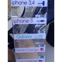 China 5 Tier Clear Acrylic Cell Phone Charger Display Rack USB Plug Stand Home wholesale