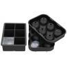 China Flexible Large Square Ice Cube Molds , BPA Free 2 Set Silicone Ice Ball Mold wholesale