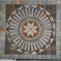 China mosaic flat stones tiles in flower pattern wholesale