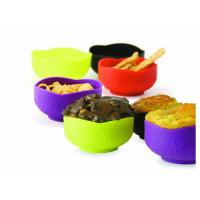 China Household Food Grade Silicone Bowl For Dishwasher / Microwave , Heat - Resistant wholesale