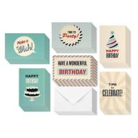 Personal Retro Design Holiday Birthday Card 4 X 6 Inches With Blank Inside