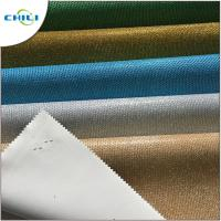 China Colorful Synthetic Leather Fabric Sheet Shiny Glitter Woven Backing Multi Layers wholesale