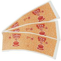 China PE printed paper cup fan paper cup blank paper cup sheet. wholesale
