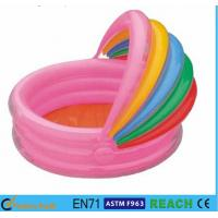 China Rainbow Canopy Inflatable Swimming Pool Durable 0.2mm Material For Infants Toys wholesale