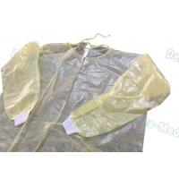 China Ultrasonic Sewing Yellow Isolation Gowns , Isolation Waterproof Disposable Lab Gown wholesale