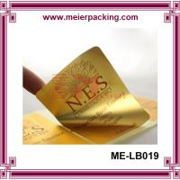China Glossy gold / silver sticker, Custom PET Cosmetic Label/Adhesive Bright Gold PET Sticker Roll ME-LB019 wholesale