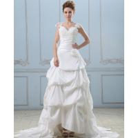 China Summer capped sleeve heart shaped layered wedding dresses with sweep train , White wholesale