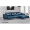 China Custom Italian Leather Sofa Set , Blue Leather Sofa Set European Style wholesale