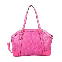 China Woven Genuine Leather Handbag Chic Lady Genuine Leather Handbag Gold Hardware wholesale