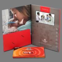 China Digital Lcd Media Video Booklet Greeting Video Card With Wifi / Touch Screen wholesale