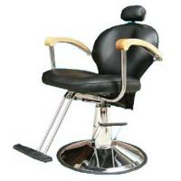 China Professional Reclining Salon Barber Chair Classic Style For Hair Shop , Dark Brown wholesale