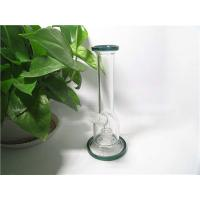 China Hand blown Sick Design middle Hand Painted mixed colors Glass Beaker bong dab rig Smoking pipe wholesale