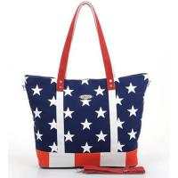 China Large Floral Custom Canvas Bags For Girls , PU Shoulder Bag wholesale